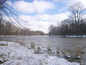 maumee river snow